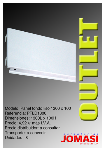 Panel liso decorativo 1300 x 100 mod