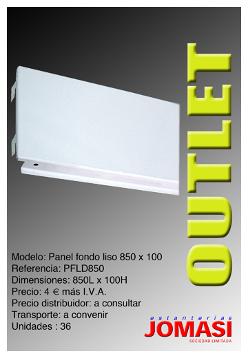 Panel liso decorativo 850 x 100 mod